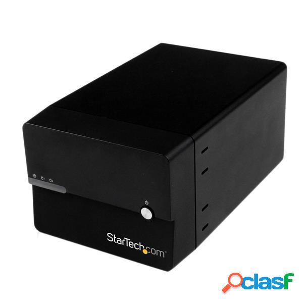 Startech.com Gabinete con Ventilador USB 3.0 eSATA para 2