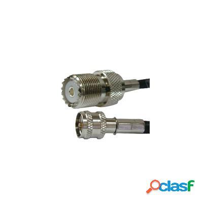 Syscom Cable Coaxial Mini UHF Macho - UHF Hembra, 2 Metros,