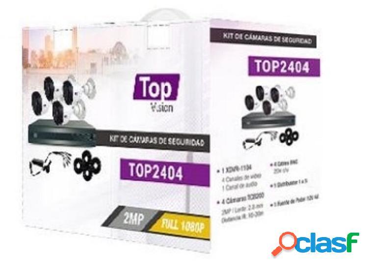 Topvision Kit de Vigilancia TOP2404 de 4 Cámaras CCTV
