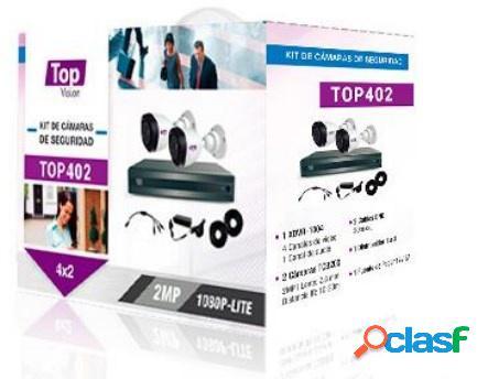 Topvision Kit de Vigilancia TOP402 de 2 Cámaras CCTV Bullet