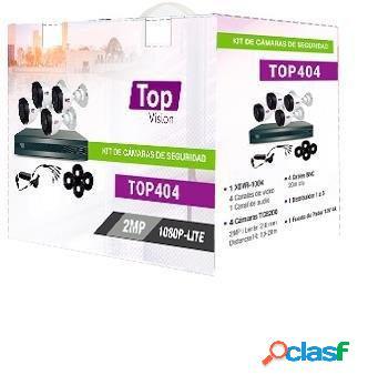 Topvision Kit de Vigilancia TOP404 de 4 Cámaras Bullet y 4