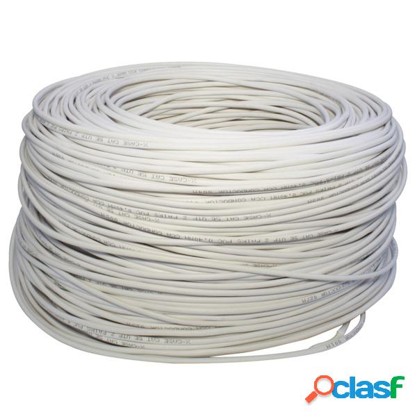 X-Case Bobina de Cable Cat5e UTP, 305 Metros, Blanco