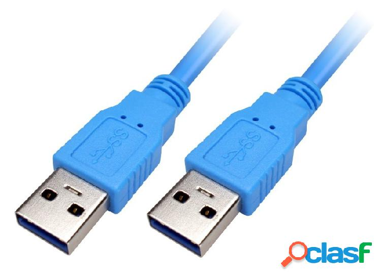 Xtech Cable USB A Macho - USB A Macho, 1.8 Metros, Azul