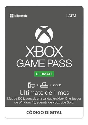 1 Mes Xbox Game Últimate Codigo