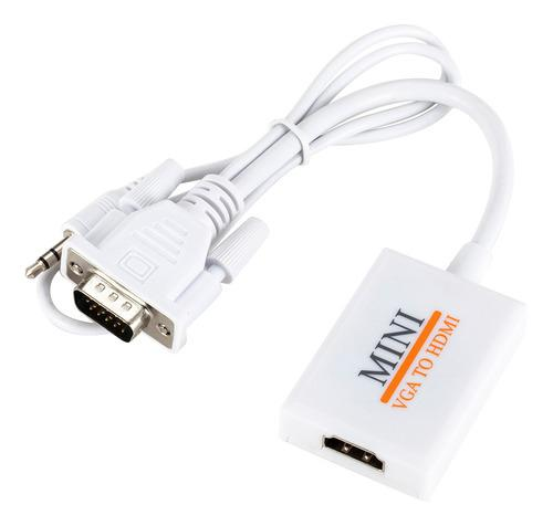 1080p Vga Macho A Hdmi Adaptador Convertidor De Cable De
