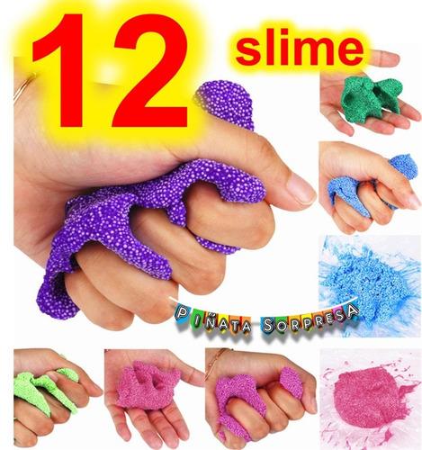 12 Slime Moco Snow Crunchy Juguete Piñata Fiesta Cumple