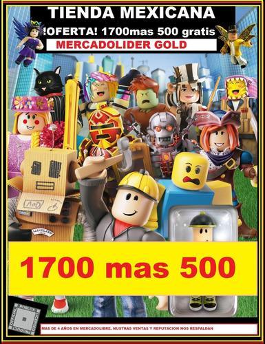 1700 + 500 Robux Para Roblox