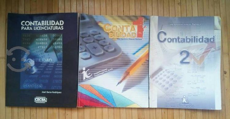 3 Libros de contabilidad titulos en la descripcion