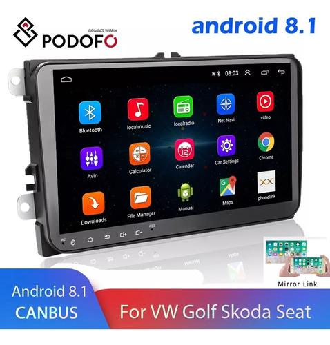 Auto Estereo De Pantalla Android Volkswagen Bora Seat Polo V