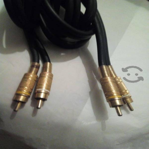 Cable Para Audio Y Video Punta Dorada Funcionando
