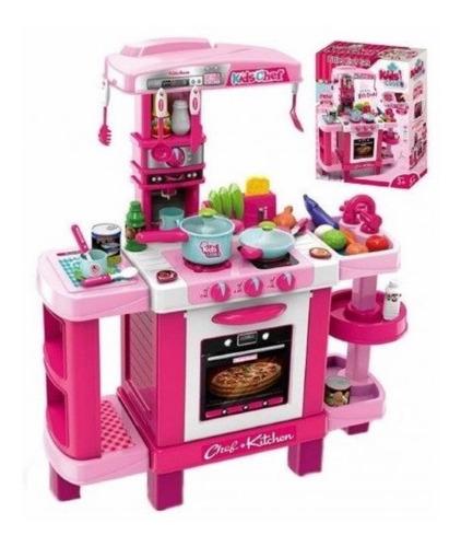 Cocina Cocinita Infantil Luz/sonido/tactil Alto 87 Cm