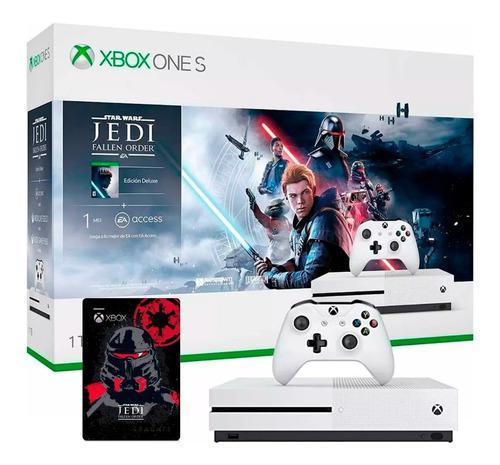 Consola Xbox One S 1tb 4k Disco Duro 2tb Star Wars Jedi