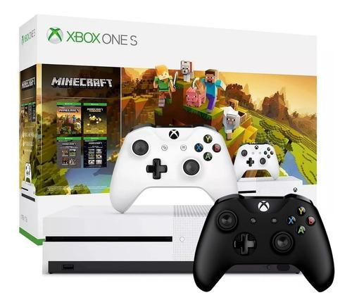Consola Xbox One S 1tb Hdr 4k 2 Controles Bundle Juego