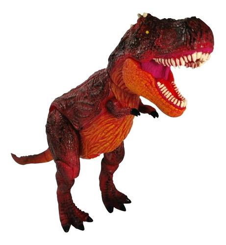 Figura T Rex Rojo Colosal Juguete Jurassic World Sonido 28cm