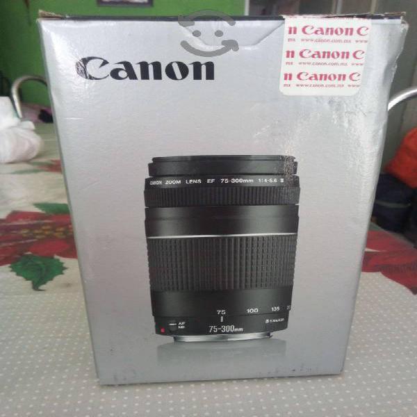 Lente Canon completamente NUEVO EF 75-300mm