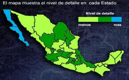 Mapa E32 Topo México -mountravel