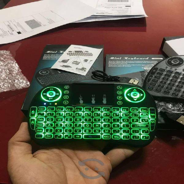 Mini Teclado Inalambrico Iluminado Tv Smart Box,
