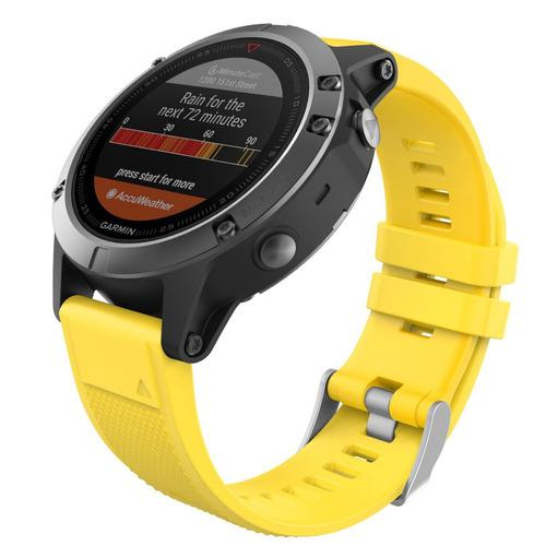 Moko Correa Fenix 5 Garmin Silicon Quick Fit 22 Amarillo Msi