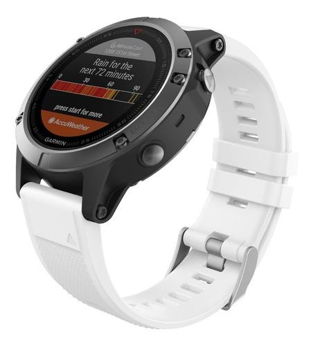 Moko Correa Fenix 5 Garmin Silicon Quick Fit 22 Blanco Msi
