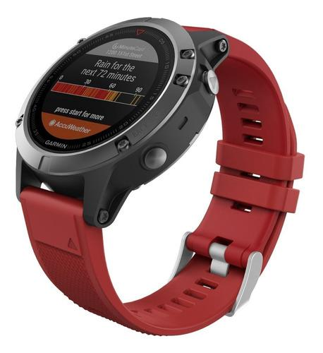 Moko Correa Fenix 5 Garmin Silicon Quick Fit 22 Rojo Msi