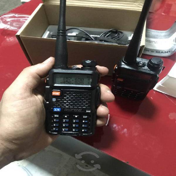 Par de Radios Baofeng Uv5r Negro Doble Banda