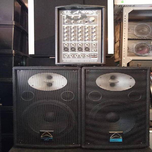 Sistema de sonido b52 y wharfedale