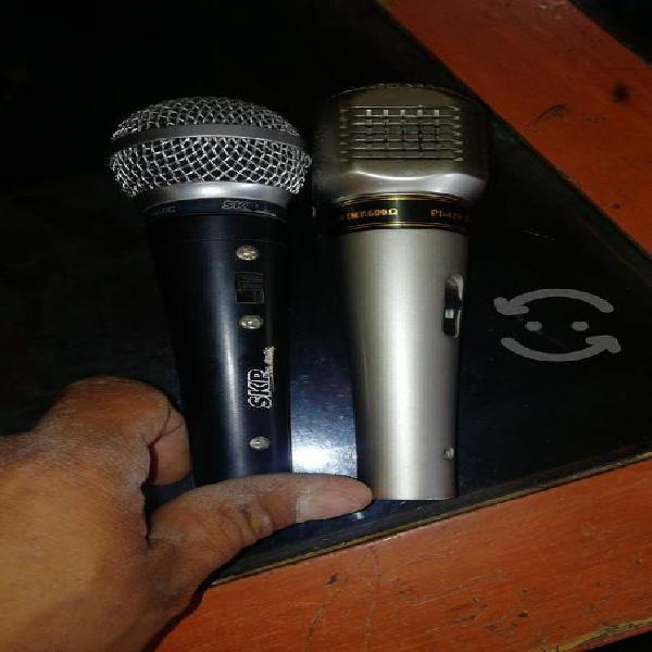 vendo 2 micrófonos nuevos precio a tratar poco