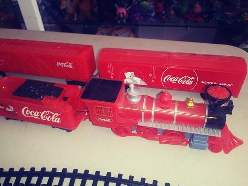 Figura Tren Navideño Coca Cola Electrico Movimiento Y