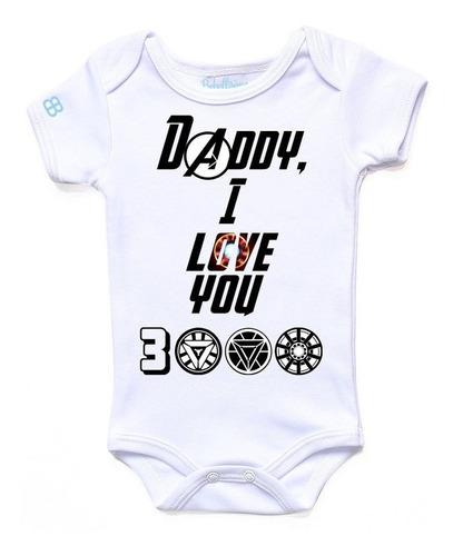 Pañalero Personalizado Daddy I Love You  Día Del Padre