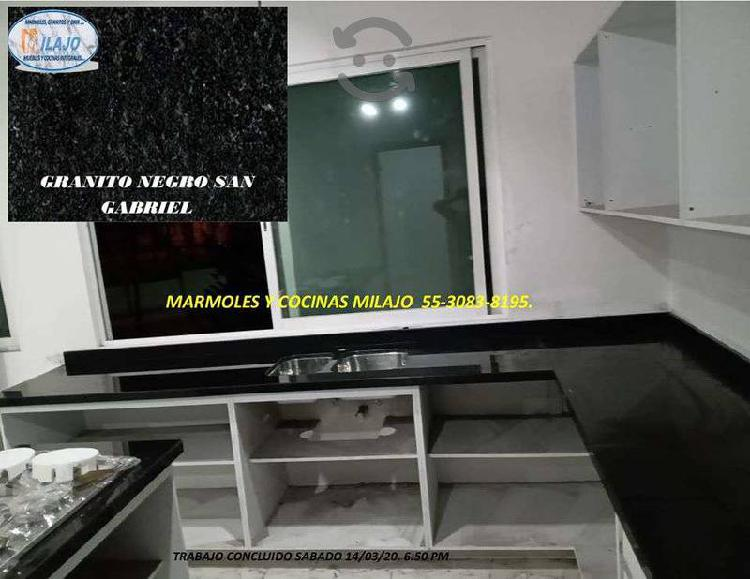 Barra para cocina granito negro san gabriel $2480