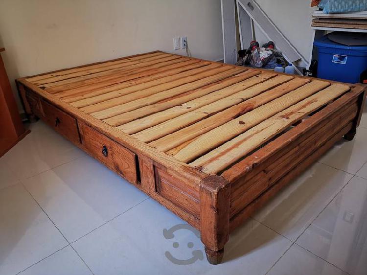 Base cama para colchón matrimonial