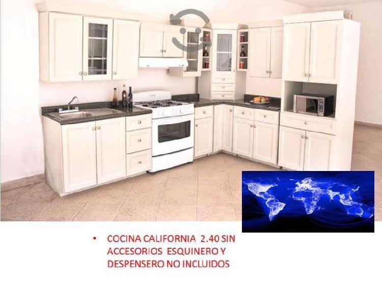 Cocina integral california blanca 2.40 mts 5 pieza