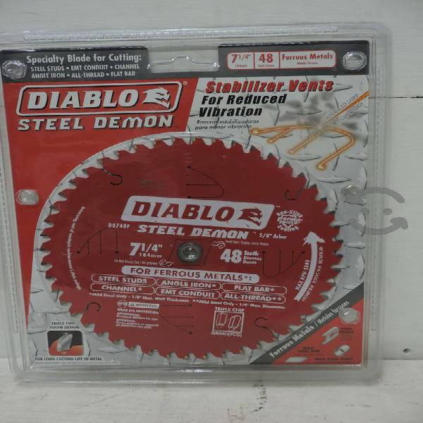 Disco para corte de metal 7-1/4 Diablo NUEVO