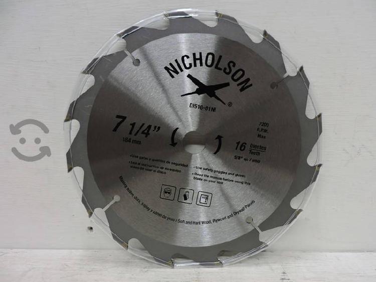 Disco para sierra circular 7 ¼ para madera 16D