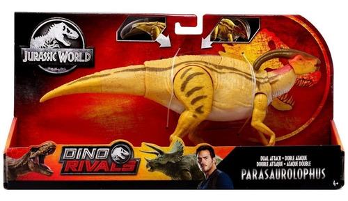 Jurassic World Parasaurolophus 31cm Doble Ataque Dino Rivals
