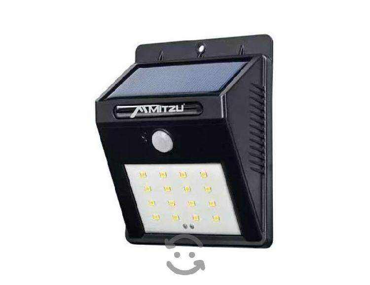 Lámpara Led De Energía Solar Con Sensor De Luz Y M