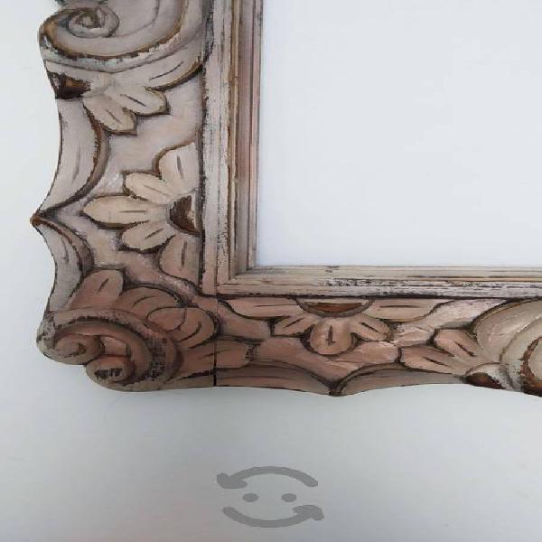 Marco de madera estilo vintage shabby chic