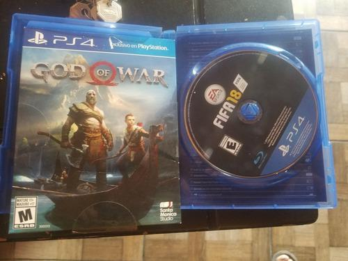 Ps4 Un Tera Como Nuevo Fifa 18 Y God Of War 4