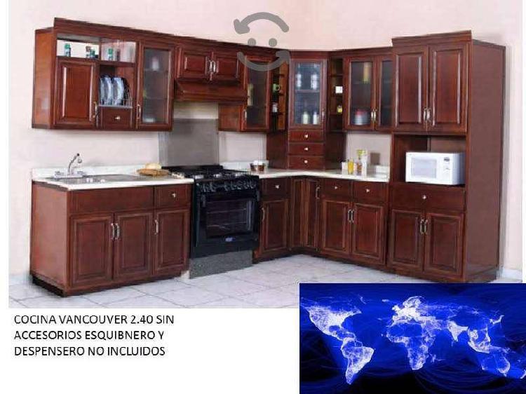 V a n c o u v e r cocina integral nogal 2.40 mts