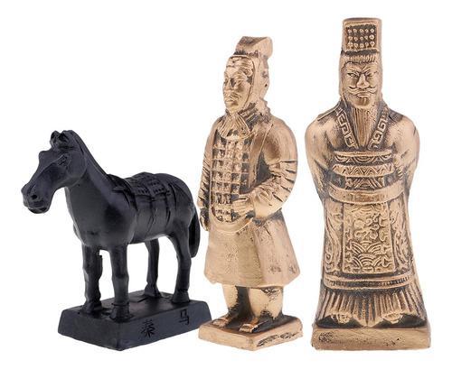 1 Pieza De Resina Qin Guerreros De Terracota