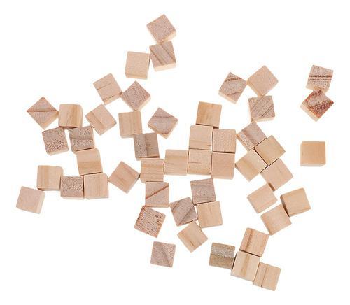100x Bloques De Madera Mini Cubos Adornos Para Madera Artesa