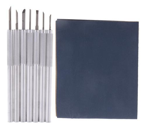 7pcs Escultura De Madera De Aluminio Talla Sistema De