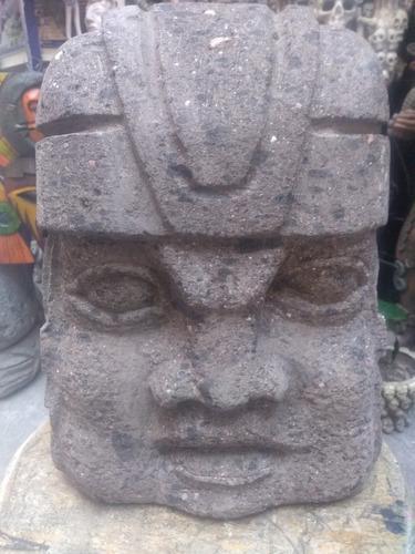 Cabeza Olmeca De Piedra 30 Cm De Alto Arte Prehispánica