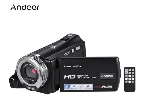 Cámara De Video Digital V12 Andoerp Full Hd 16x Sensor