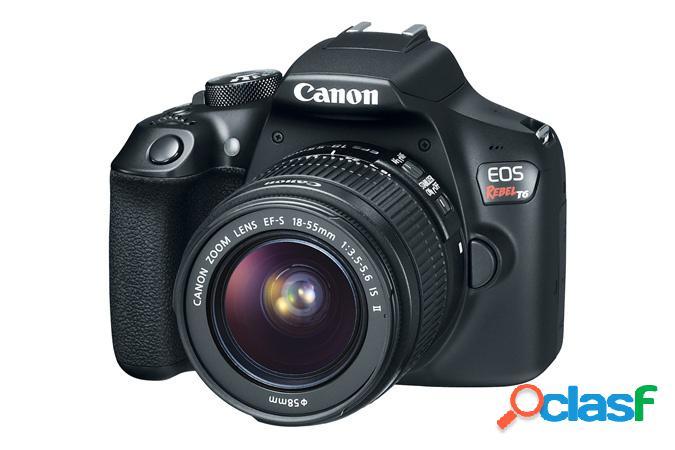 Cámara Réflex Canon EOS Rebel T6, 18MP, Cuerpo + Lente EF