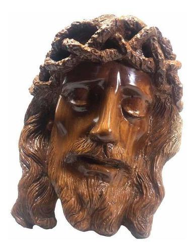 Divino Rostro De Cristo Tallado En Madera