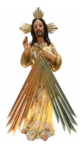 Escultura Tallada En Madera Señor De La Misericordia 46cm