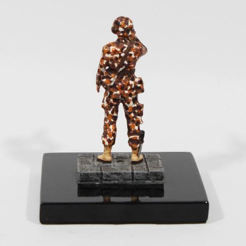 Figura De Metal De Soldado Del Ejercito Mexicano