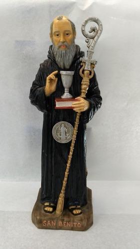 Figura De San Benito Abad De 45 Cm De Resina