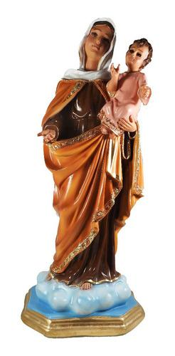 Figura O Estatuilla Virgen Maria Y Jesus Pintada Mano 30cm